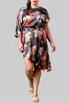 Yona New York Asymmetrical Floral Green Dress - Product List Image