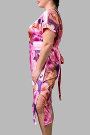 Love By Yona Asymmetrical Floral Pink - Front full body