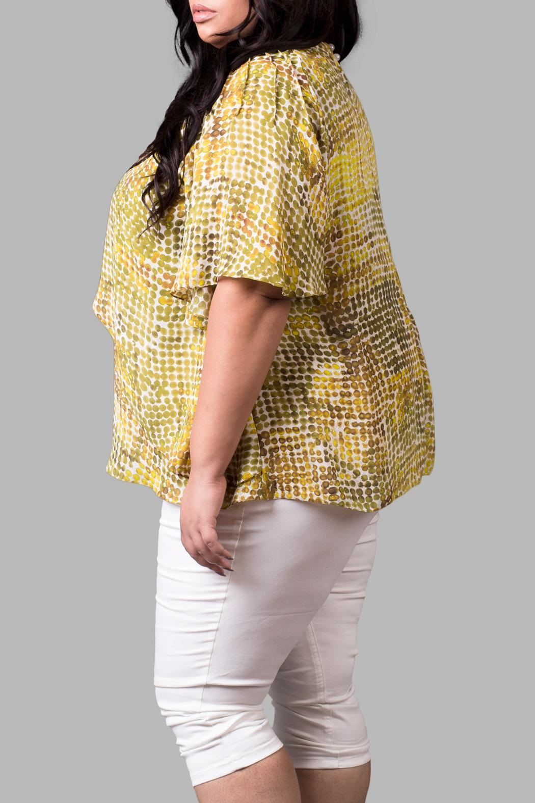 Yona New York Crisscross Yellow Top - Front Full Image