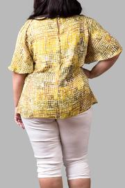Yona New York Crisscross Yellow Top - Side cropped