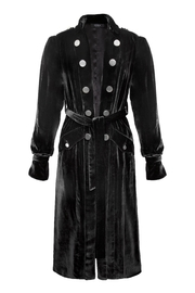Yona New York Daya Trench Coat / Black Silk Velvet - Product Mini Image