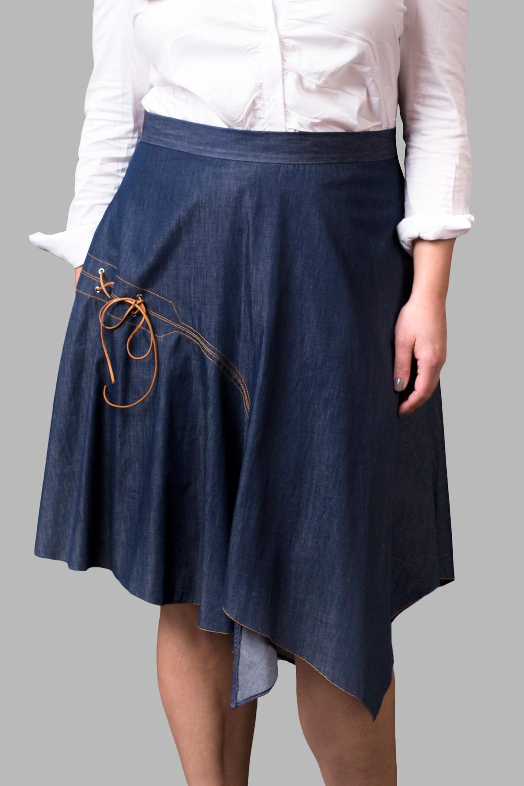 Yona New York Denim Skirt - Front Cropped Image