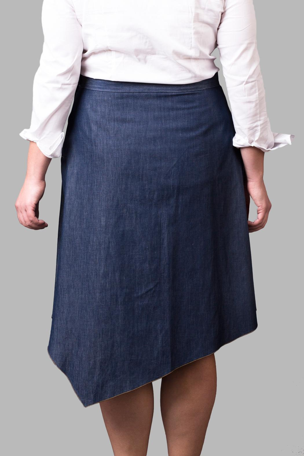 Yona New York Denim Skirt - Side Cropped Image
