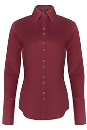 Yona New York Double Button Down Dress Shirt / Burgundy - Product Mini Image