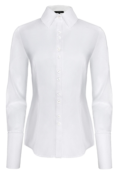 Yona New York Double Button Down Dress Shirt / Classic White - Product List Image