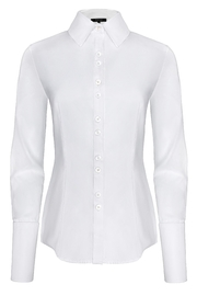 Yona New York Double Button Down Dress Shirt / Classic White - Product Mini Image