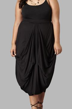 Shoptiques Product: Drape Maxi Black Skirt