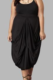 Yona New York Drape Maxi Black Skirt - Product Mini Image