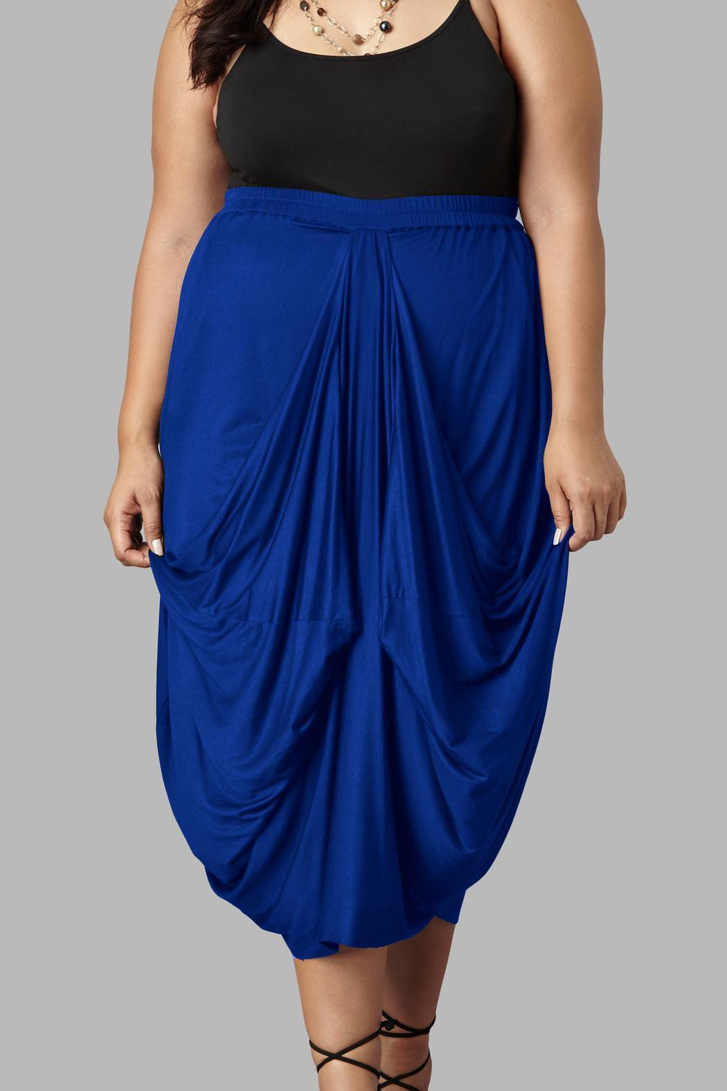 Yona New York Drape Maxi Skirt - Front Cropped Image