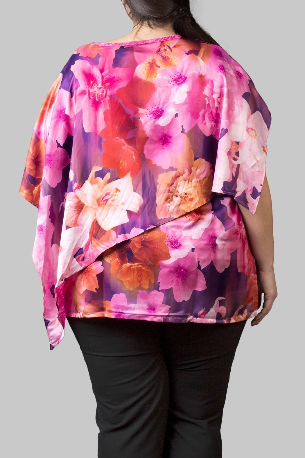 Love By Yona Drape Top Pink - Front Full Image