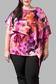 Love By Yona Drape Top Pink - Front cropped