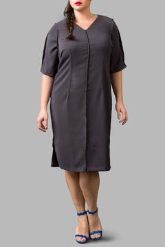 Shoptiques Product: Exposed Seam Charcoal Dress