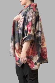 Yona New York Floral Charmeuse Green Top - Front full body