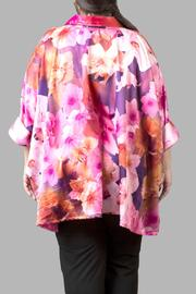 Yona New York Floral Charmeuse Pink Top - Front full body