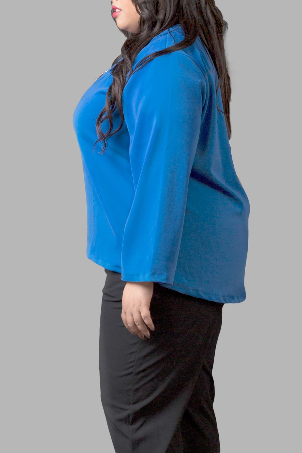 Yona New York Blue Long Sleeve Top - Front Full Image