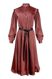 Yona New York Valarie Pleated Chiffon Maxi Dress / Wild Ginger - Product Mini Image