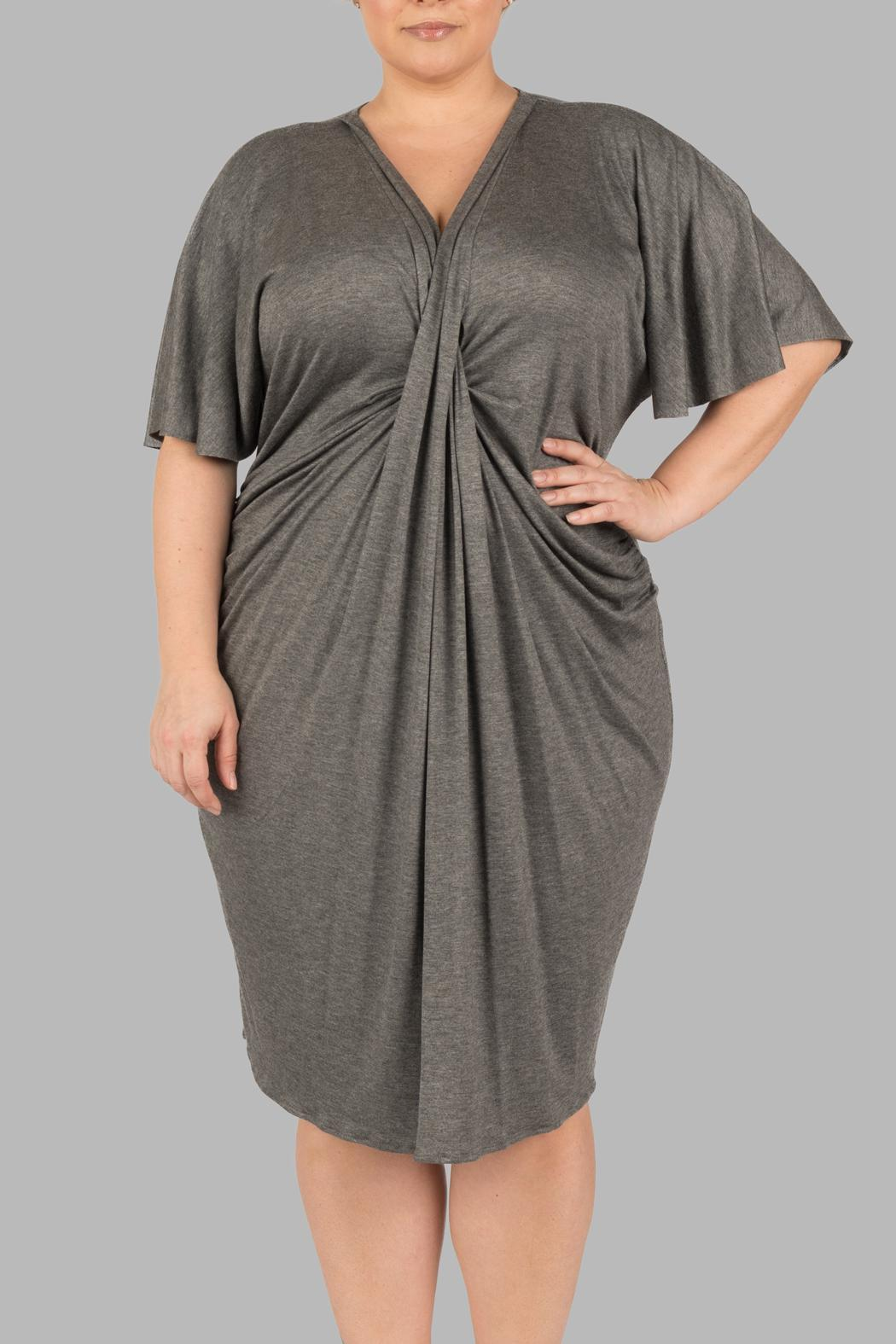Yona New York Grey Kimono Dress - Front Cropped Image