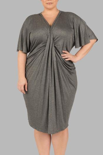 Yona New York Grey Kimono Dress - Main Image