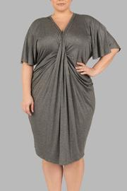 Yona New York Grey Kimono Dress - Front cropped