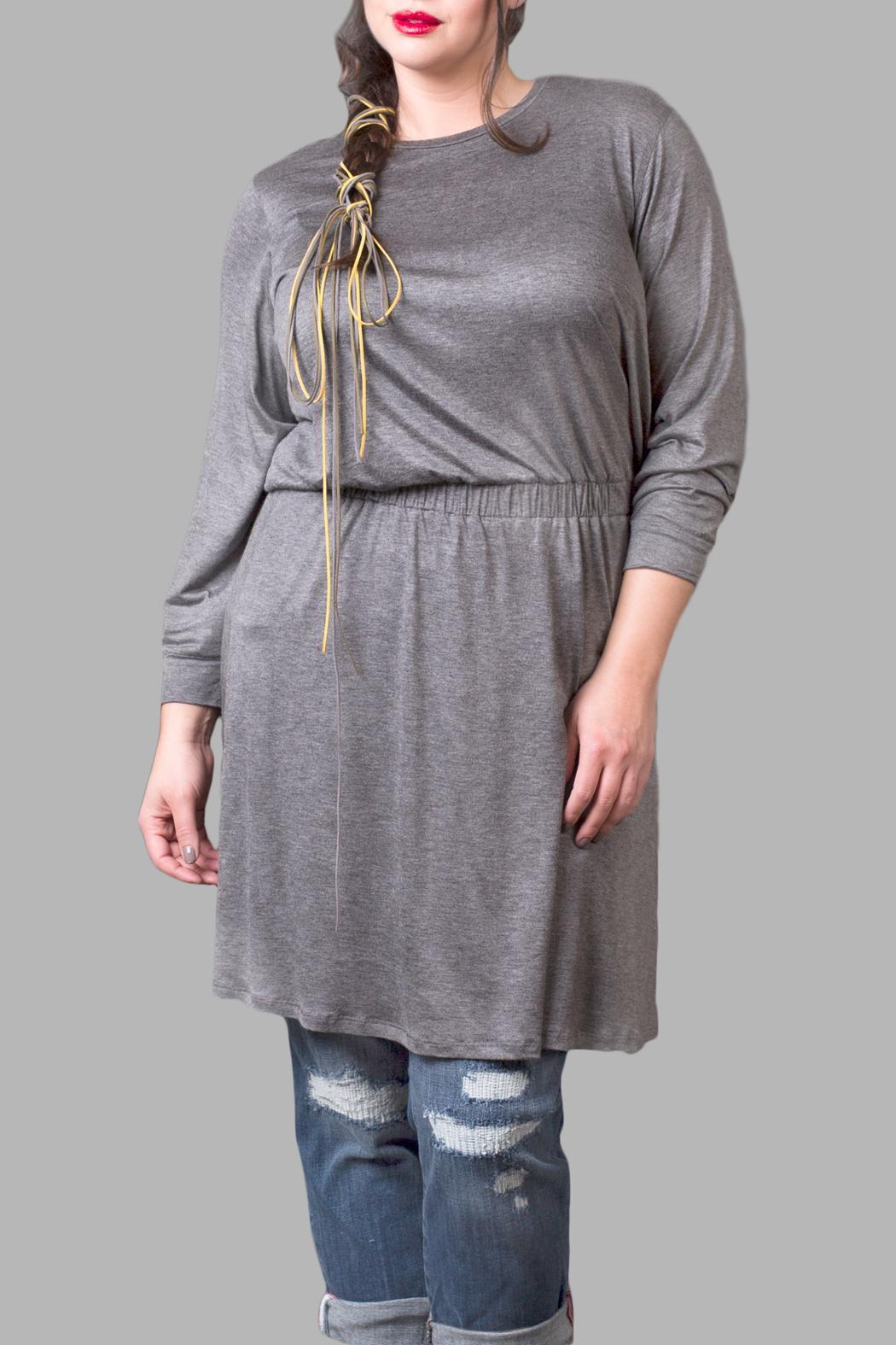 Love By Yona Charcoal Jersey Dress - Main Image