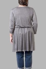 Love By Yona Charcoal Jersey Dress - Front full body