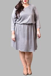 Love By Yona Jersey Grey Sparkle Dress - Product Mini Image