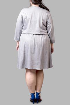 Yona New York Jersey Grey Sparkle Dress - Alternate List Image