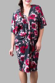 Yona New York Black Red Rose Kimono - Front cropped