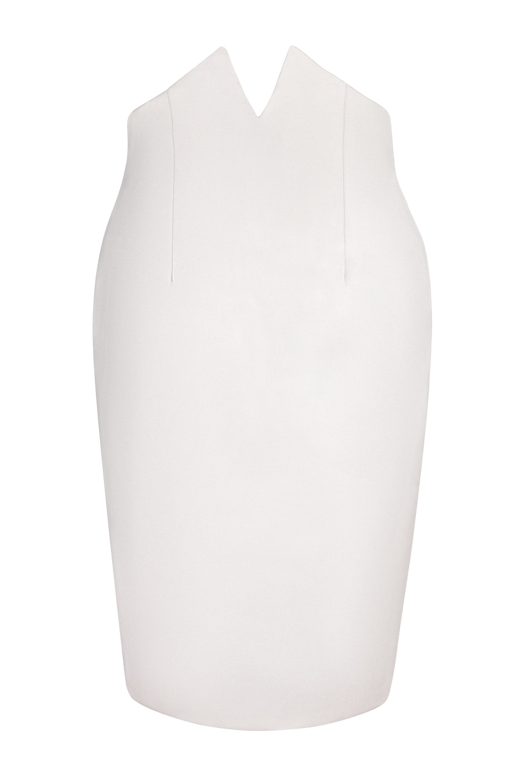 Yona New York Tori Notch Pencil Skirt / Off White - Front Cropped Image