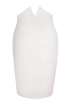 Shoptiques Product: Tori Notch Pencil Skirt / Off White