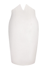 Yona New York Tori Notch Pencil Skirt / Off White - Product Mini Image