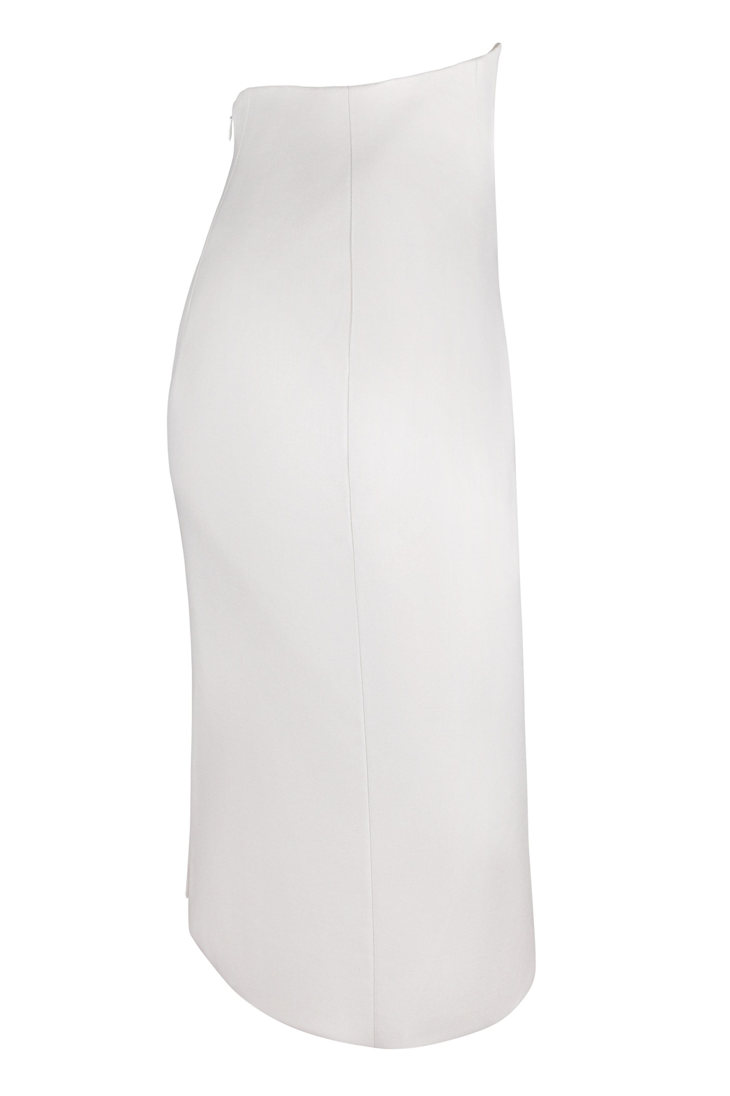 Yona New York Tori Notch Pencil Skirt / Off White - Front Full Image