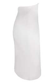 Yona New York Tori Notch Pencil Skirt / Off White - Front full body
