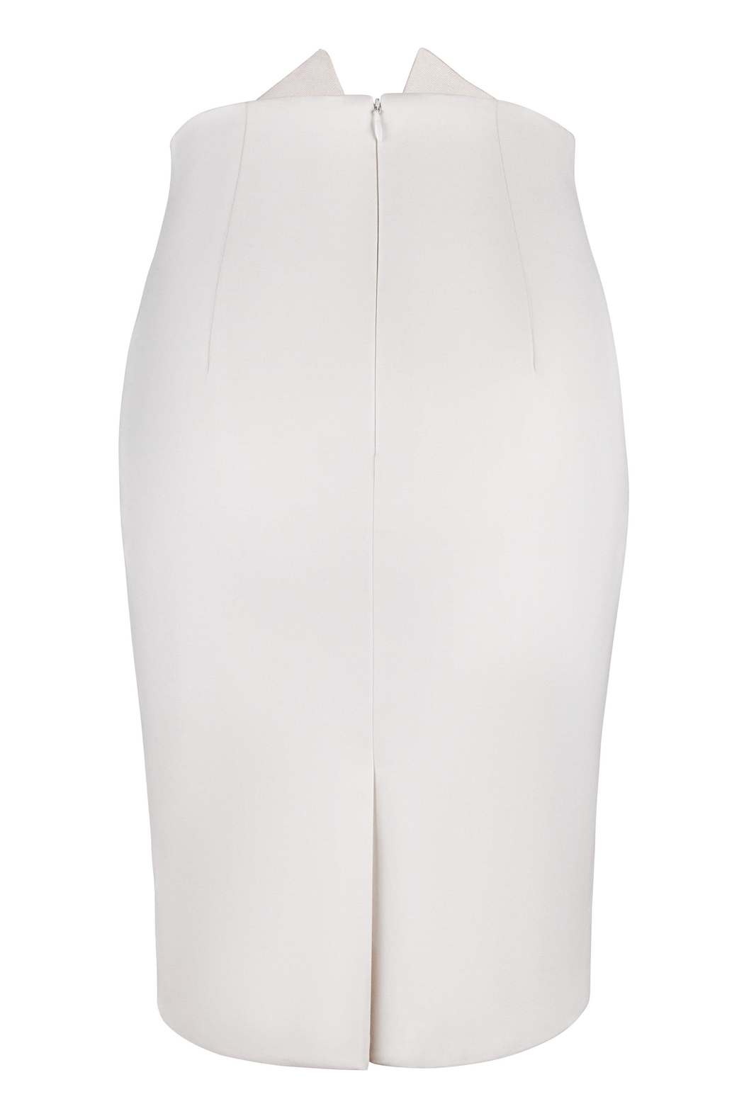 Yona New York Tori Notch Pencil Skirt / Off White - Side Cropped Image