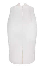 Yona New York Tori Notch Pencil Skirt / Off White - Side cropped