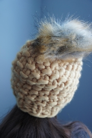 YOOMOO Chunkyknit Pompom Beanie - Front cropped