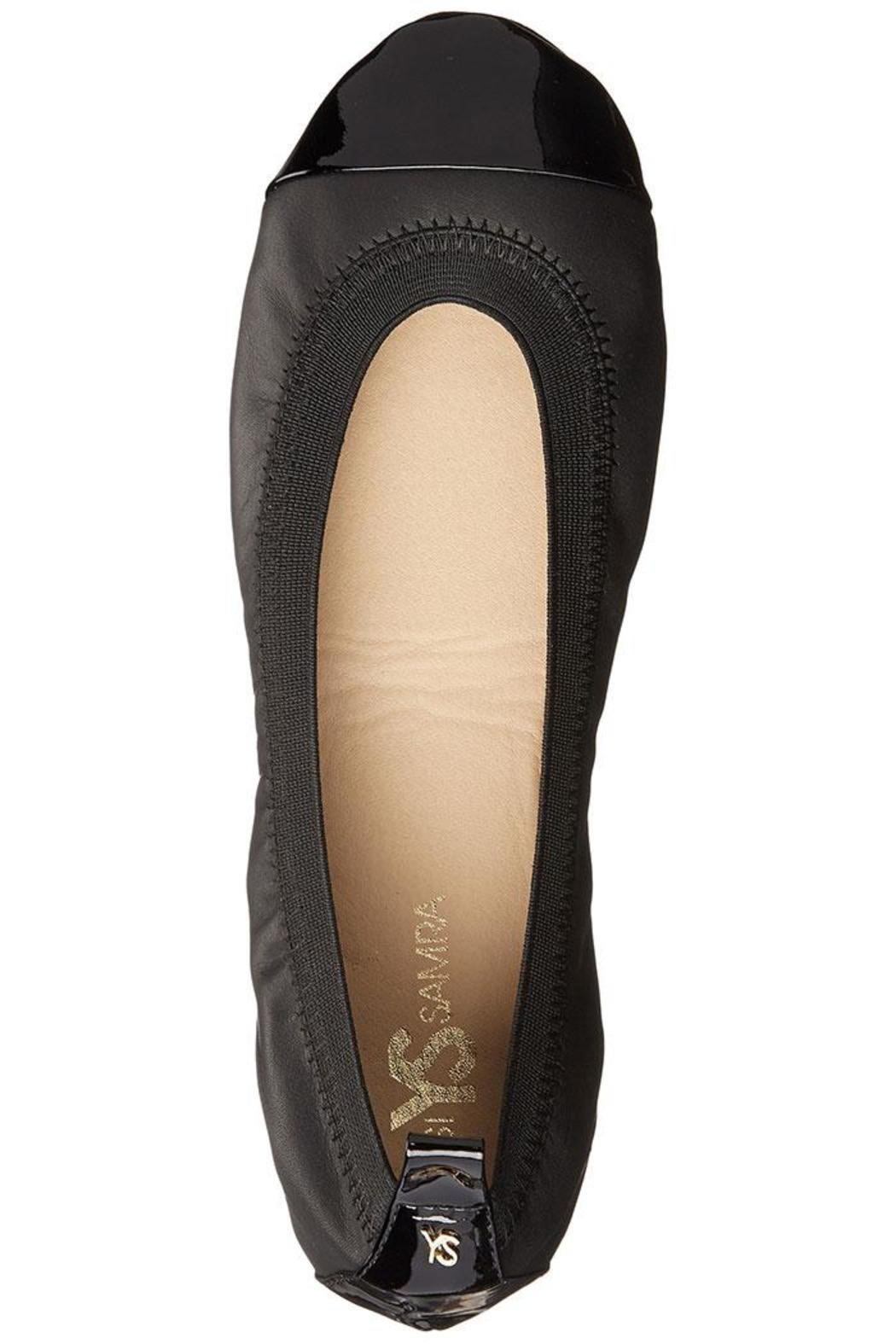 Yosi Samra Two-Tone Foldable Flats - Side Cropped Image