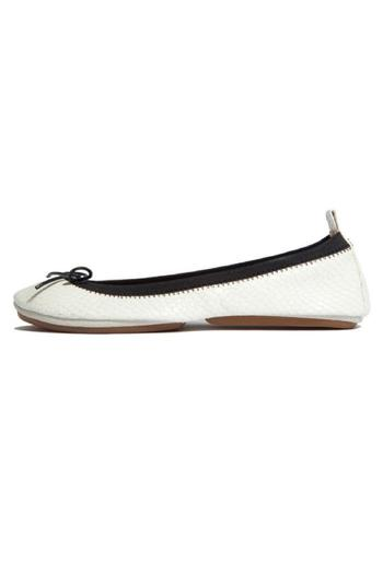 Shoptiques Product: White Croco Flats - main