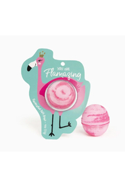 Cait + Co You Are Flamazing Flamingo Bath Bomb - Honeysuckle & Gardenia - Front cropped