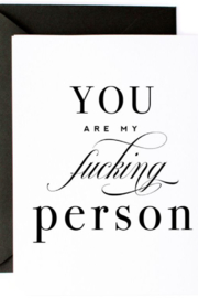 Lyn -Maree's You are my F-ing Person - Funny Love & Friendship Card - Product Mini Image