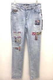Charlie B You Are My Hero Jeans - Front full body
