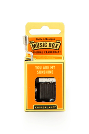 Kikkerland Design You Are My Sunshine Music Box - Product Mini Image