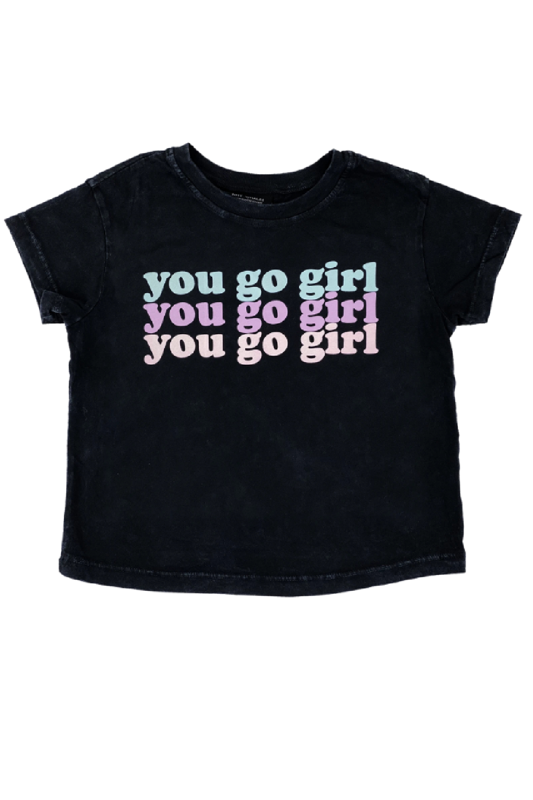 Tiny Whales  You Go Girl Boxy Tee - Front Full Image