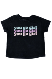 Tiny Whales  You Go Girl Boxy Tee - Front full body