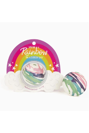 Cait + Co You're A Rainbow On A Cloudy Day Bath Bomb - Apple Blossom, Tangerine & Plum - Front cropped