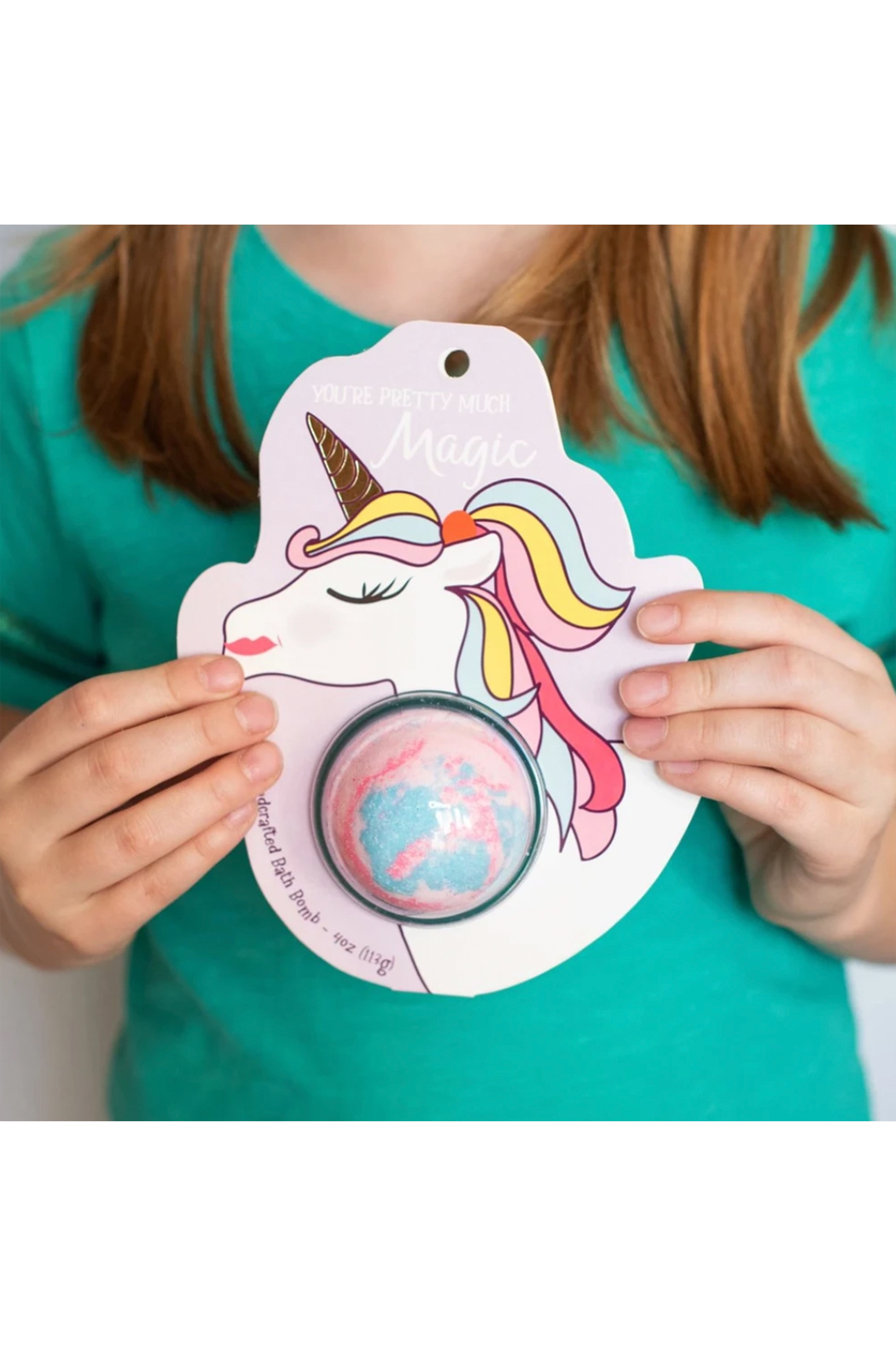 Cait + Co You're Pretty Much Magic Unicorn Bath Bomb - Rosewater & Lemonade - Side Cropped Image