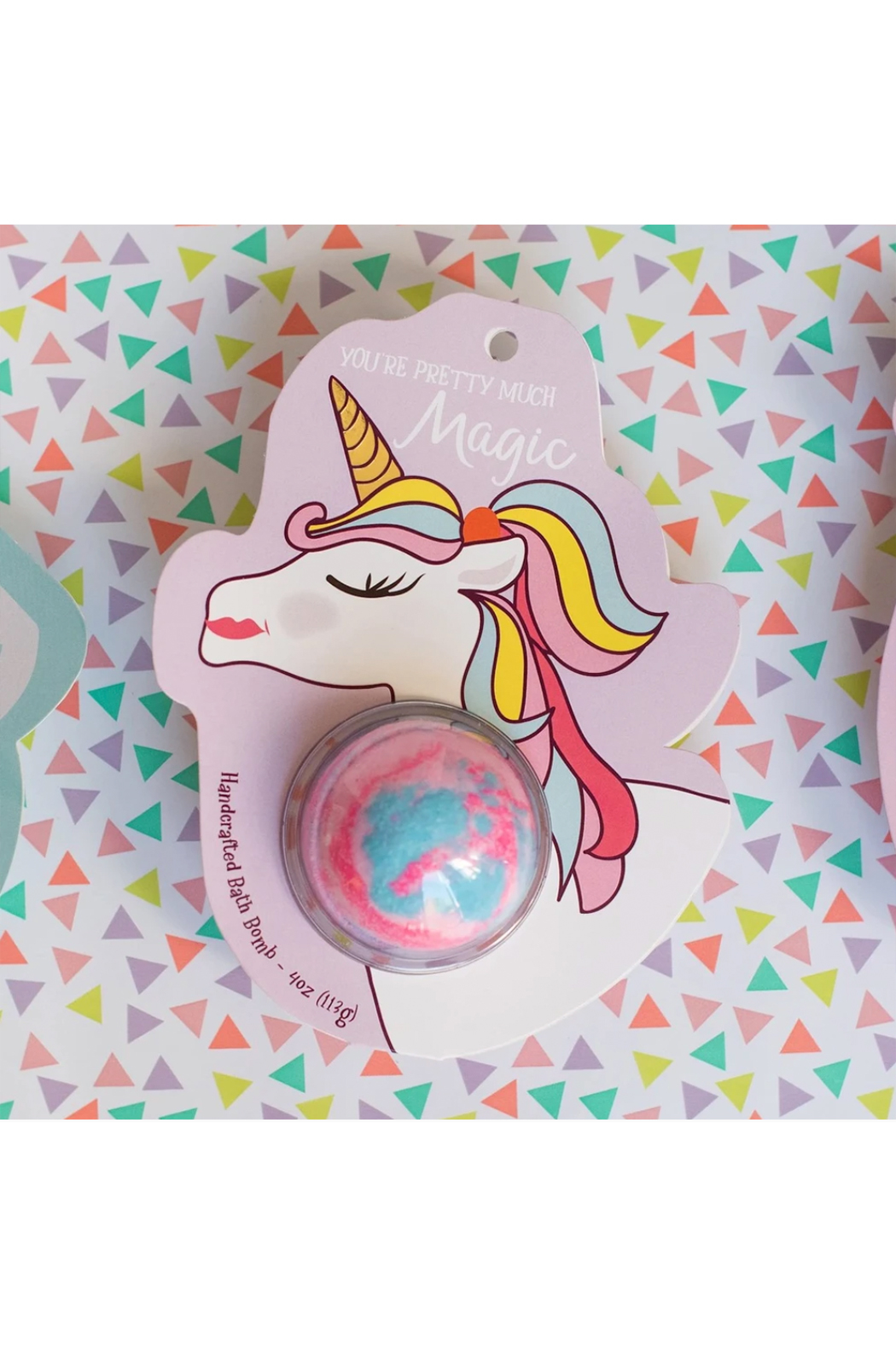 Cait + Co You're Pretty Much Magic Unicorn Bath Bomb - Rosewater & Lemonade - Front Full Image