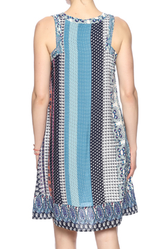 Young Threads Blue Printed Sleeveless Dress - Alternate List Image