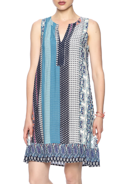 Young Threads Blue Printed Sleeveless Dress - Product List Image