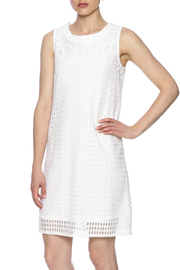 Young Threads Eyelet Sleeveless Sheath - Front cropped
